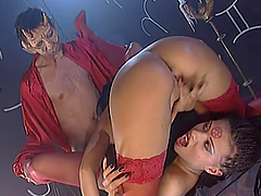 Black Diamond and Claudia Ferrari get..