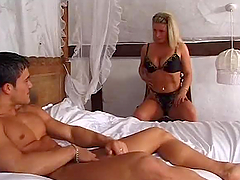 Hardcore sex between young dick and mature woman is good