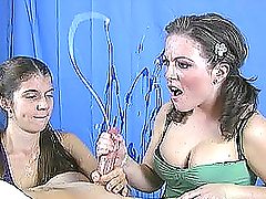 Two horny teens with pigtails learn to..