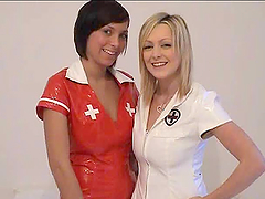 Two nasty nurses Jessica and Claire..
