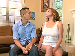 Tattooed Asian guy fucks Rebecca..
