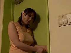Sexy Ai Kanazaki gets her big boobs..