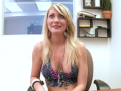 A horny blonde blowjobs and gets some anal pleasure