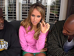 Aleska Diamond gets penetrated by two..