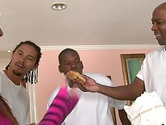 Ashli Orion lets three black dudes..