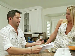 Guy fucks his sexy blonde stepmother..