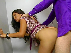 Sexy Asian receptionist gets fucked in..