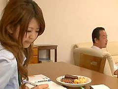 Two Japanese schoolgirls get hotly..