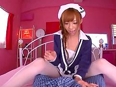 Aino Kishi Asian doll masturbates with..