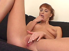Skinny redhead slut Nicole gets her..