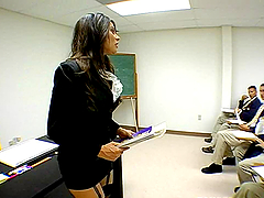 Hot teacher gets fucked deep in her..