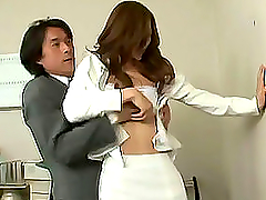 Pissed off Japanese boss rapes her..