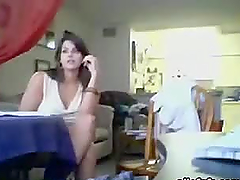 Hot Milf Gives One Heel of A Blowjob In Voyeur Clip