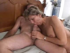 Teen with jizz leaking from her pink..
