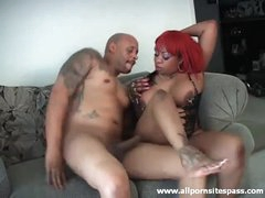 Curvy black girl anal fuck and BJ