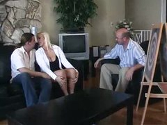 Horny blonde wife and another guy..