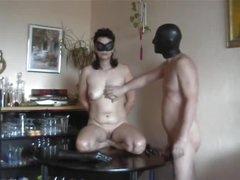 Amateur couple enjoys kinky dildo play
