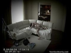 Hidden camera captures teens fucking