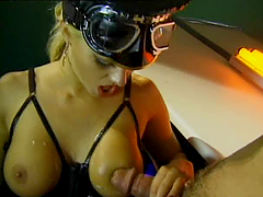 Hot FFM BDSM With Glow in the Dark..