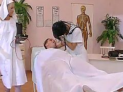 Two horny nurses are fucking with..