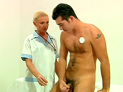 Blonde Nurse Fucks Patient and Doctor..