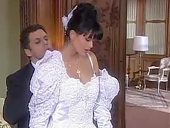 Brunette Bride Consummating the..