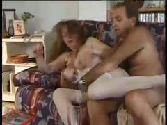 Mature couple fucks and lady is hot in..