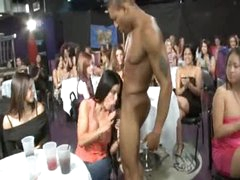 Male stripper sucked at big party