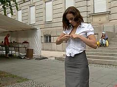 Hottest Public Bondage Humilation..