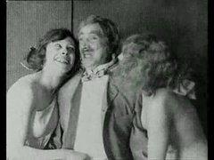 Vintage porn with a little lesbian..