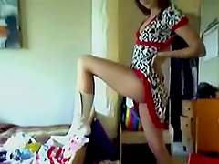 Sexy Brunette in Erotic Homemade Stripping Movie Here!