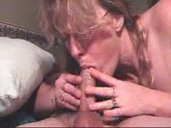 Handjob and a deepthroat blowjob