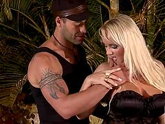 Busty Brazilian Blonde Cinthia Santos..