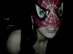 Spidergirl Giving a Hot Blowjob in..