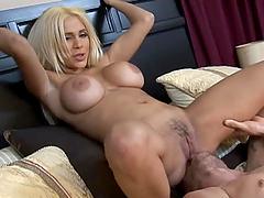 Busty Blonde Pornstar Carmel Moore..