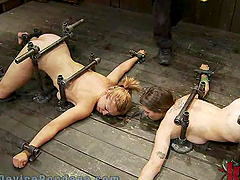 Two Submissive Girls Suffering the..