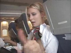 Stewardess giving customer a blowjob..