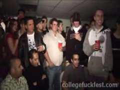 Threesome slut at a college party