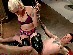 Ball Torture in Femdom Action Vid with..