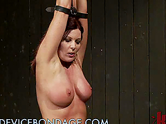Busty Brunette MILF Bounded and Tied..