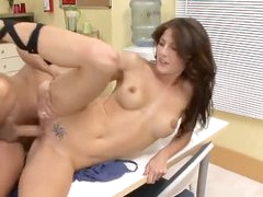 Hot coworker Jenni Lee fucked in break..