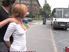 Dirty Blonde Babe Gets Fucked in a Bus