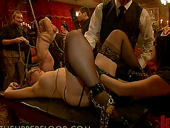 Massive Bondage Scene With Hot Babes..