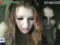 Drunk Goth Lesbian Teens Showing Off..