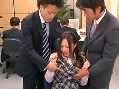 Busty Japanese Office Lady Titty Fucks..