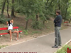 Submissive Babe Goes for a Walk