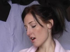 Retro hairy pussy pumped after a good BJ
