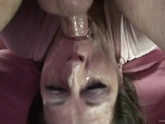 Wild Deep Throat Action For A Slutty Milf
