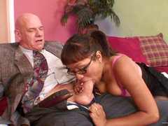 Sexy Asian Babe Rides An Old Man's Cock