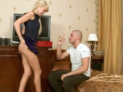 A Mouthful Of Warm Jizz For A Blonde..